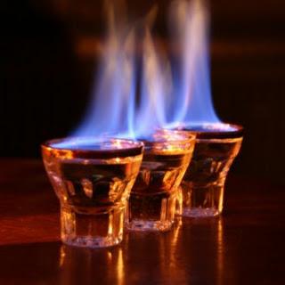 Flaming Dr Pepper Shot.