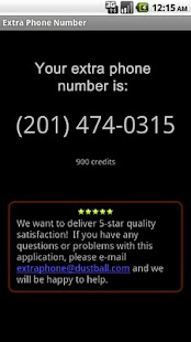 Extra Phone Number - screenshot thumbnail