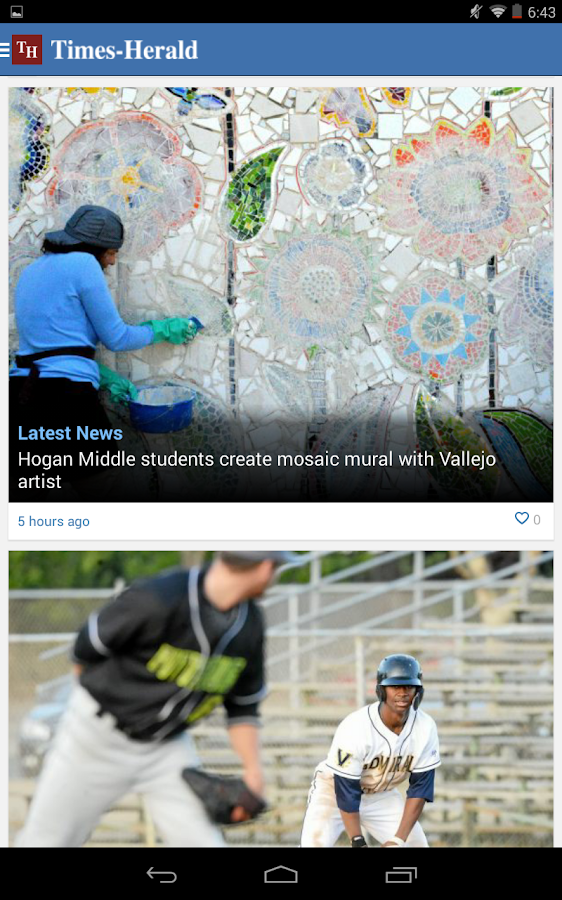Vallejo Times Herald - screenshot