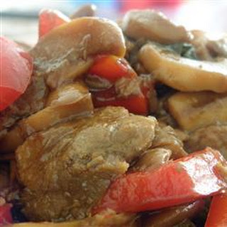 Slow Cooker Beef and Mushrooms.