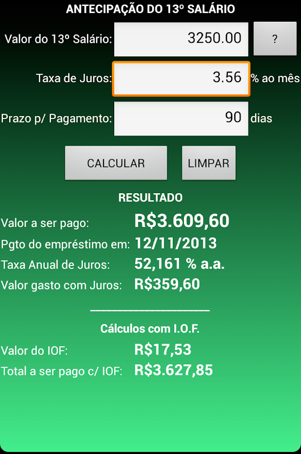 Juros Fácil TOTAL- screenshot