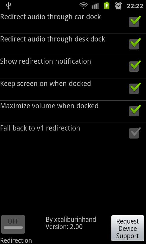 Galaxy Dock Sound Redirector- screenshot