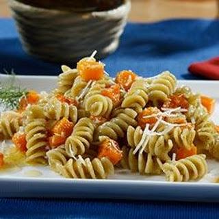 Veggie Rotini Pasta Salad with Roasted Butternut Squash and Citrus Dill Vinaigrette