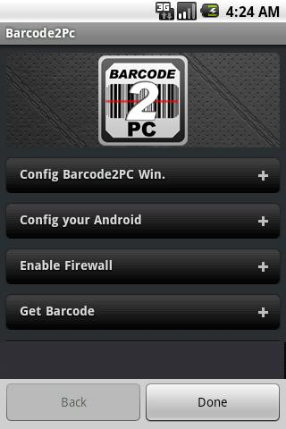 Barcode2PC - screenshot