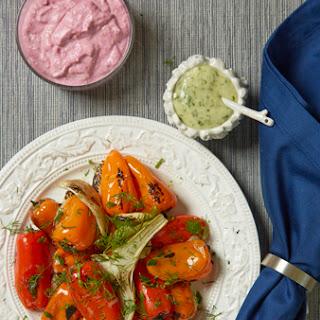 Roasted Summer Vegetables with Horseradish Aioli.