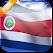 3D Costa Rica Flag icon