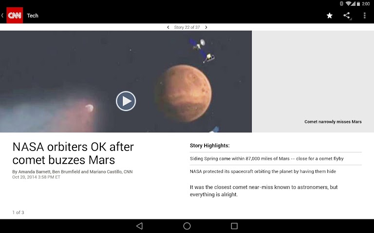 android CNN Breaking US & World News Screenshot 1