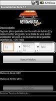 Screenshot of Busca Multas Chile