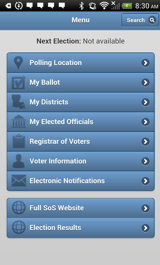GeauxVote Mobile- screenshot