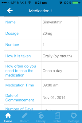 My Medication Diary - screenshot