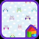 Colorful Owl dodol theme icon