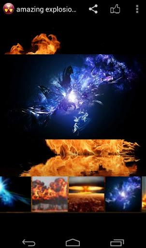 amazing explosion effect