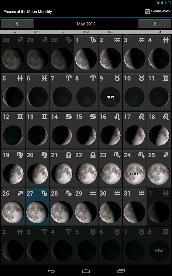 Phases of the Moon Free - screenshot