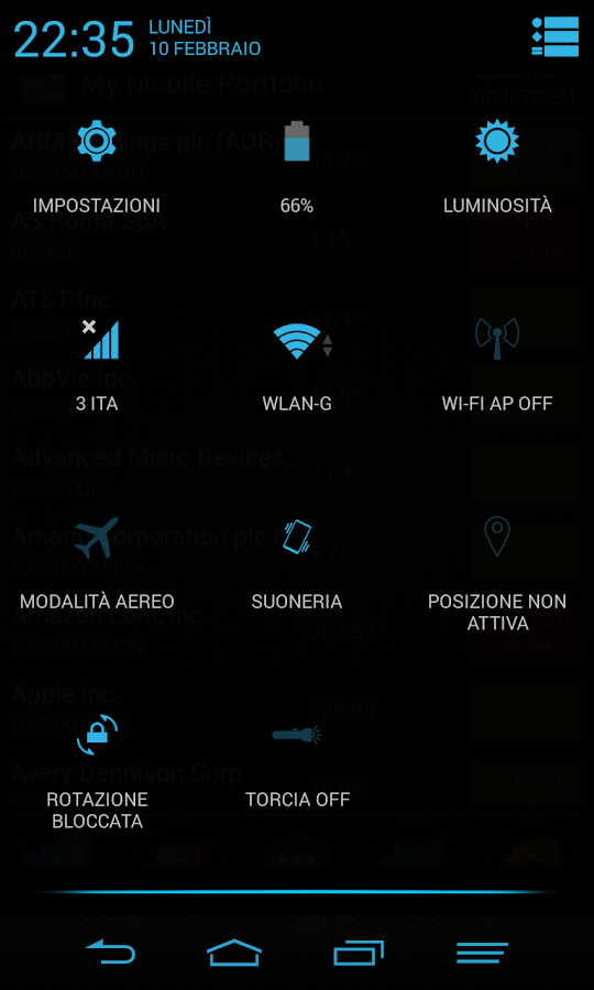Blue Infinitum Theme - Dark - screenshot