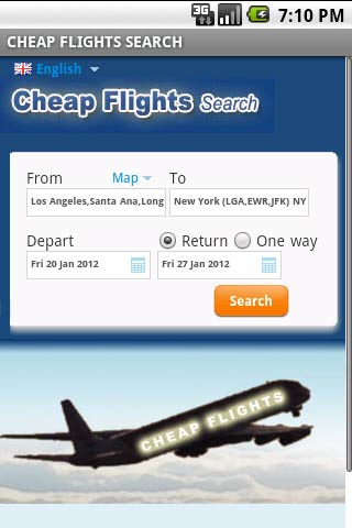 Cheap Flights Search - screenshot