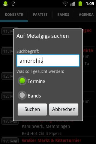 GigMeUp by Metalgigs- screenshot