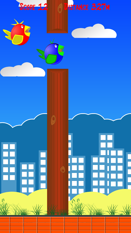 Two fly Birds - flap wings - screenshot