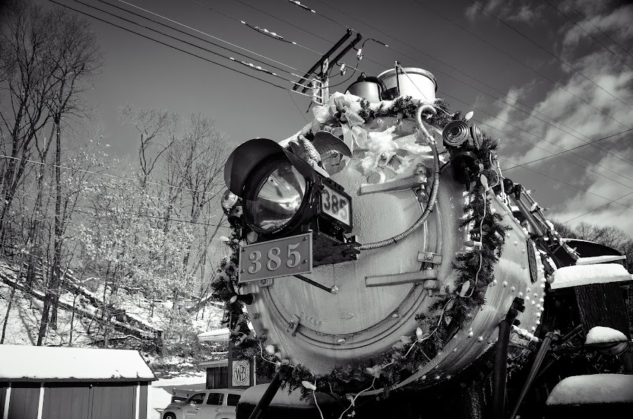 Christmas Locomotive by Al Koop - Transportation Trains ( holiday, locomotive, train,  )