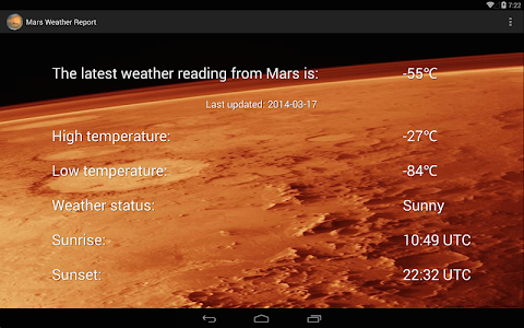 Mars Weather Report screenshot 6