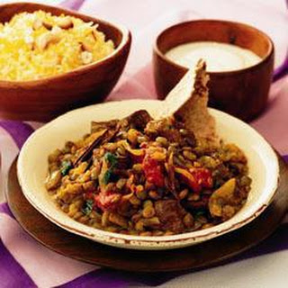 Indian Lamb with Spiced Lentils Recipe