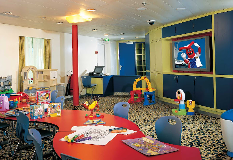 Camp Carnival is a safe place for kids to play during a sailing on Carnival Fascination.