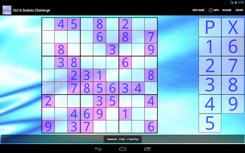 16x16 Sudoku Challenge HD - screenshot thumbnail