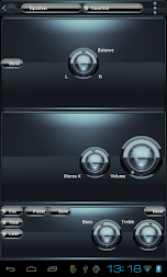 Poweramp skin Black Petrol APK screenshot thumbnail 4