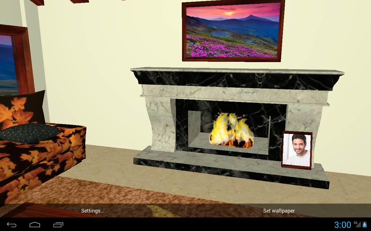 3D Romantic Fireplace Live Wallpaper HD- screenshot