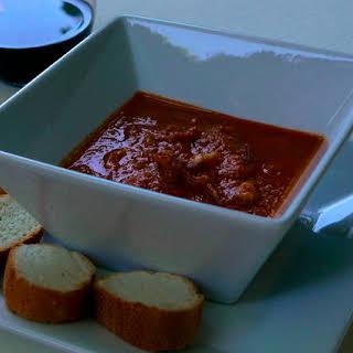 Calamari in a Zingy Tomato Sauce.