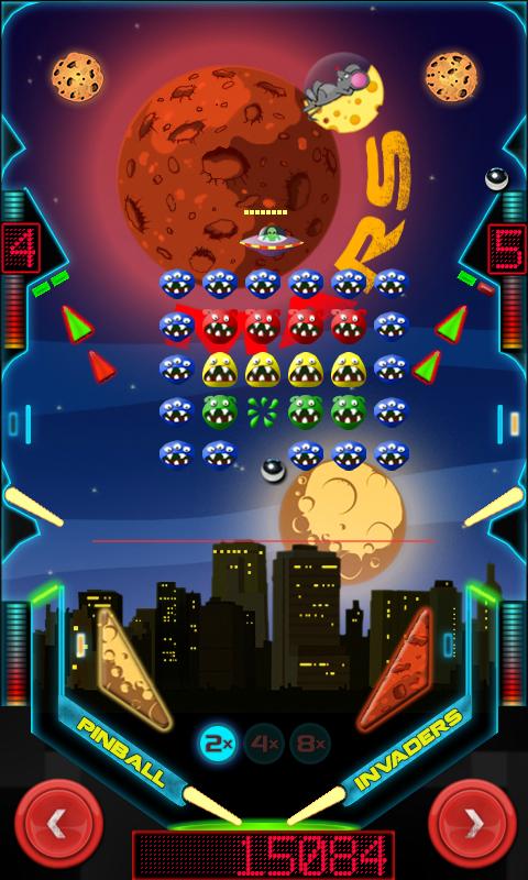 Pinball Invaders - screenshot