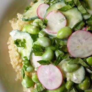 Quinoa, Edamame & Cucumber Salad Recipe