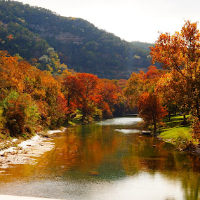 Guadalue River, Comal County, Texas by Scott Walker - Landscapes Waterscapes ( guadalupe river, mountains, texas, trees, river )