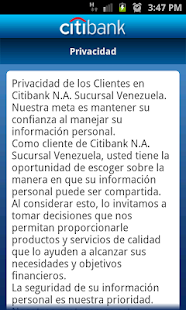 CitiMobile VE - screenshot thumbnail