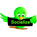Green Socialize for Twitter icon