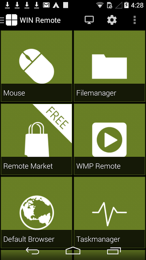 WIN - Remote Control PRO- screenshot