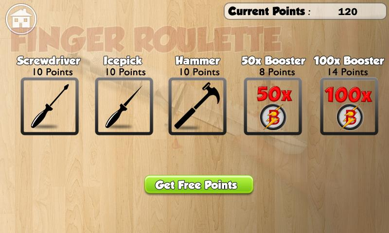 Finger roulette knife game android apps on google play