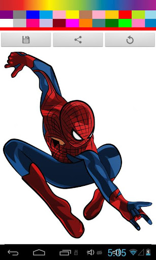 Spidy Coloring Game Kids