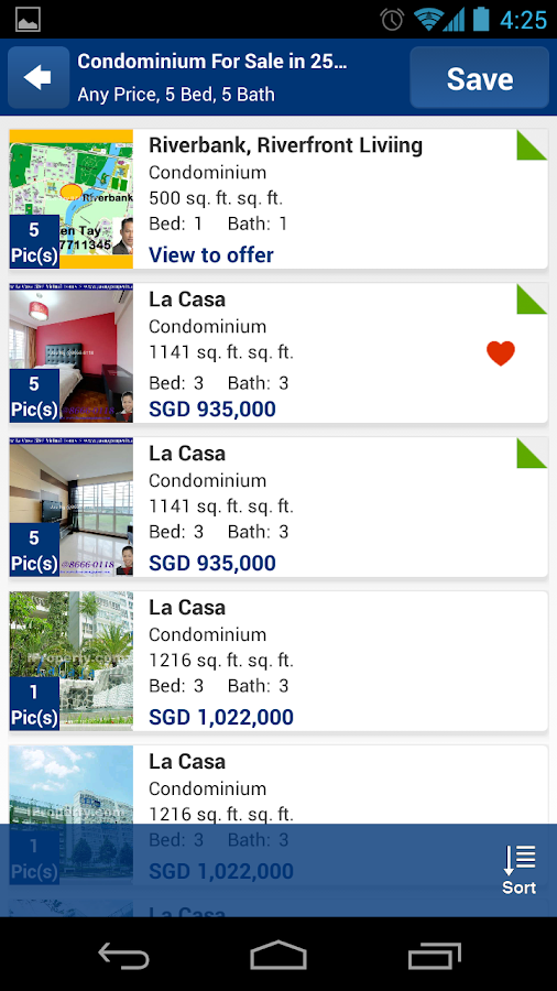 Singapore Property Search - screenshot