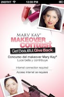 Screenshot of Mary Kay Makeover Contest