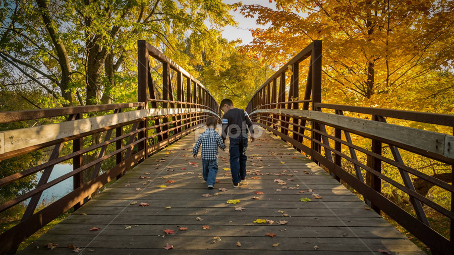 My two little guys enjoying the Fall! by Andy Taber - Babies & Children Children Candids ( fall, color, colorful, nature,  )
