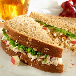 Tuna Waldorf Salad Sandwiches.