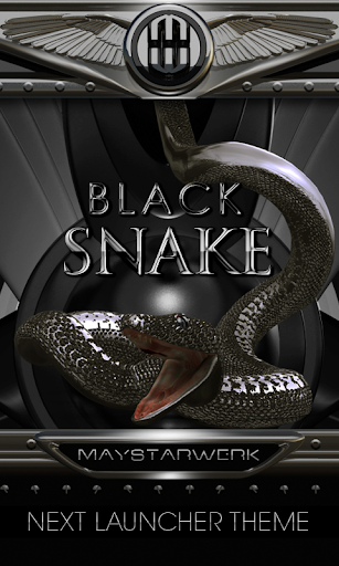 blacksnake Next Launcher Theme
