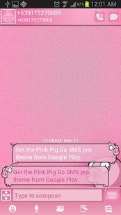 Pink Pig Go SMS Pro Theme - screenshot thumbnail