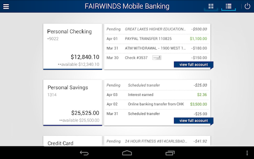 FAIRWINDS Mobile Banking - screenshot thumbnail
