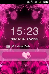 GO Locker Theme Pink Flowers - screenshot thumbnail