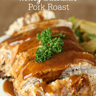 Slow Cooker Honey Balsamic Pork Roast.