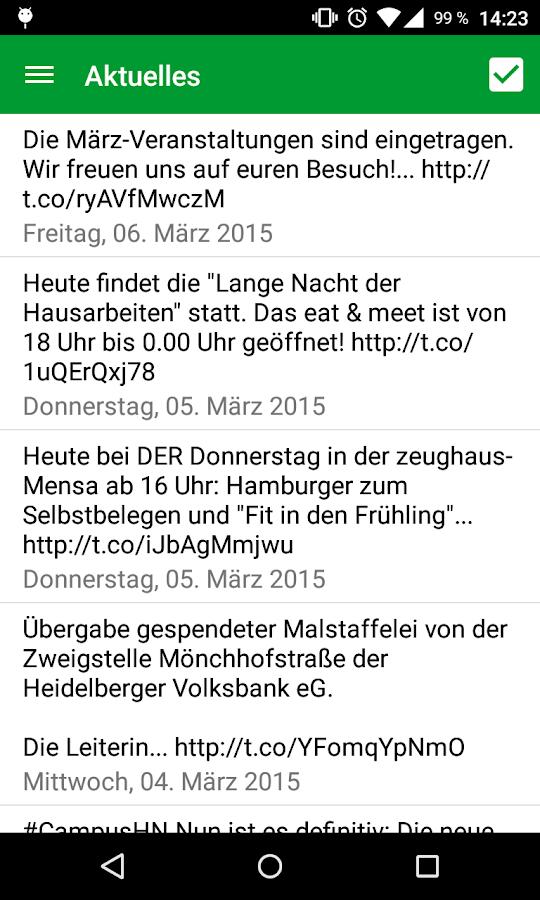 Studierendenwerk Heidelberg - screenshot