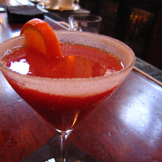 Blood Orange Martini Cocktail