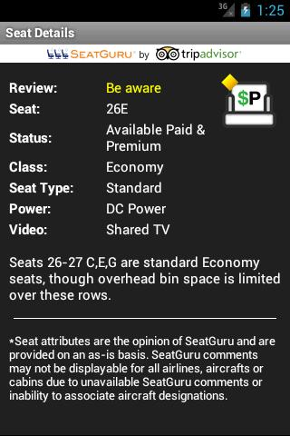 Seat Alerts by ExpertFlyer - screenshot