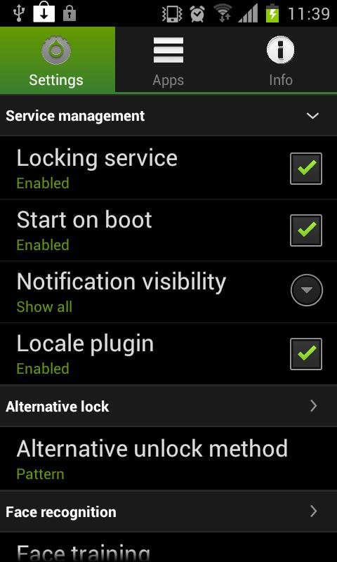 Visidon AppLock - screenshot